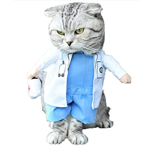 Mikayoo Pet Dog Cat Halloween Costume Doctor Nurse Costume Dog Jeans Clothes  Cat Funny Apperal Outfit ba4960cb747b
