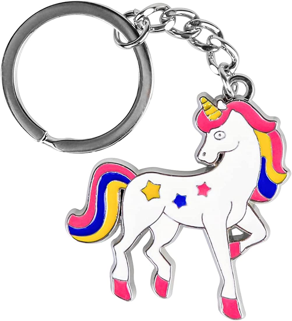 Unicorn Keychain,Cute Keychain Accessories,Rainbow Stuff,Unicorn Party Favor for Women,Best Gift for Friends