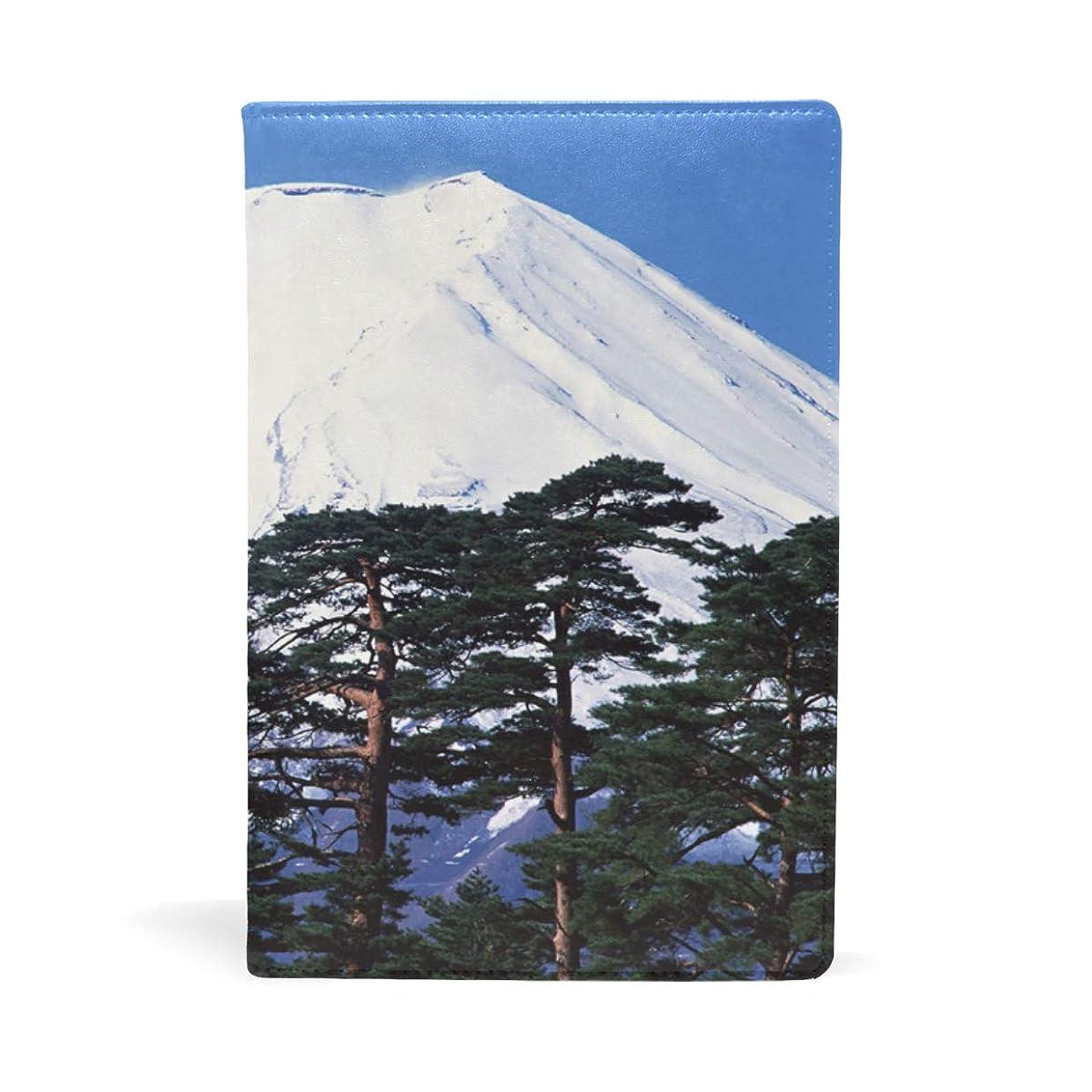 からかうタオルスクラップブック富士山青松 ブックカバー 文庫 a5 皮革 おしゃれ 文庫本カバー 資料 収納入れ オフィス用品 読書 雑貨 プレゼント耐久性に優れ