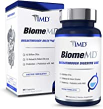 1MD BiomeMD Probiotics - 62 Billion CFUs, 15 Clinically Studied Strains - Probiotics with Prebiotics with HMO | Doctor-Formulated for Optimal Digestive Health | 30 Capsules