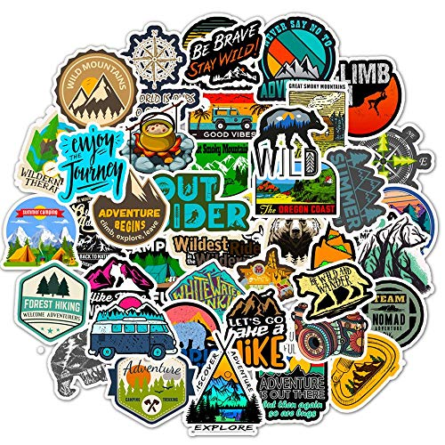Outdoor Stickers for Water Bottles,|Big 50-Pack|Cute,Waterproof,Aesthetic,Trendy Stickers for Teens,Girls,Perfect for Laptop,Hydro Flask,Phone,Skateboard,Extra Durable Vinyl (Outdoor Stickers 50)