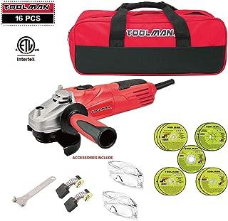 Lion Tools DB5027B Toolman 16 pcs Electric Angle Grinder Disc Side Grinder 4-1/2