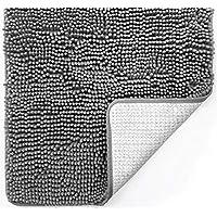 Gorilla Grip Original Luxury Chenille 30 x 20 Bathroom Rug Mat (Grey)