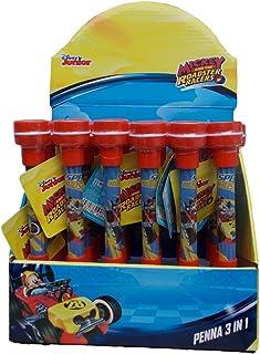 Box con 6 Set Topolino Portafoglio Penna Portachiavi Partylandia Shop AS9785 Multicolore
