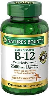 Nature's Bounty Vitamin B-12 2500 mcg, 300 Quick Dissolve Tablets
