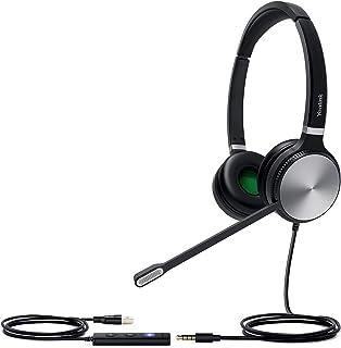 Yealink UH36 Dual 有線USBヘッドセット 3.5mm接続 ビデオ会議 Teams/Zoom認証 2年間メーカー保証