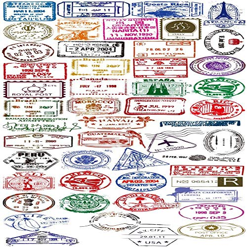 Ligoi 50 stks Graffiti Stickers Transparant Postmark Reizen Retro Stickers Snowboard Gitaar Skateboard Merk Waterdichte Kids Stickers