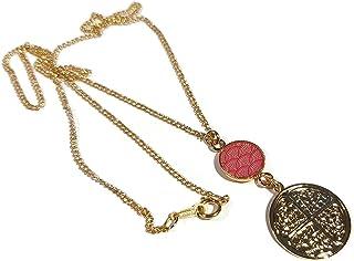 LUCK Japan collana corallo oro rosa trifoglio 4 foglie resina regali personalizzati cerimonia di compleanno di natale ospi...