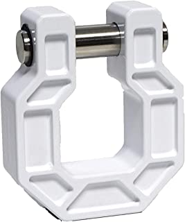 Royal Hooks - Royal Shackle - Towing Shackle Rated with 10,000 lbs with 3:1 Safety Ratio, Premium Offroad Towing Accessories - Made in USA. (White)
