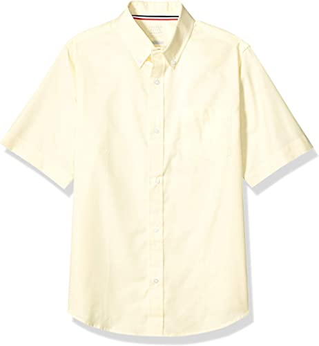 French Toast Boys' Short Sleeve Oxford Shirt (Standard & Husky)