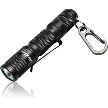 AIDIER A7 EDC Keychain LED Flashlight, Ultra Compact Bright 180lm with CREE LED AAA Battery IPX7 Waterproof Tail Switch Flashlights for Camping, Hiking, Outdoor Activity and Emergency Lighting