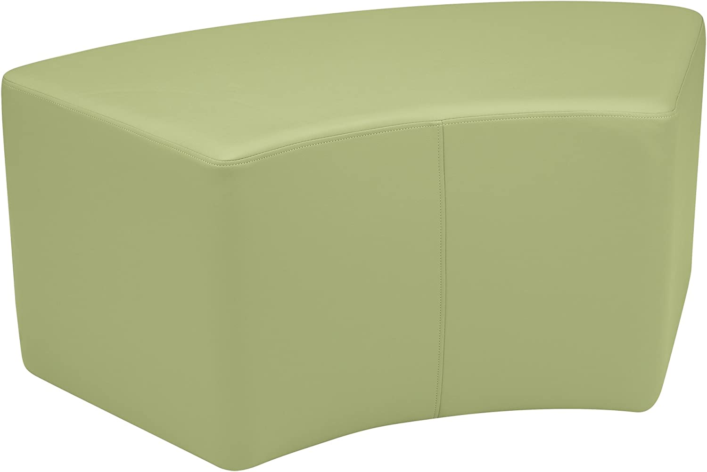 Sprogs Kids Vinyl Soft Soft Soft Seating Curved Stool Bench, 18  H, Fern Grün, SPG-1013FG-A B071W14XJK | Für Ihre Wahl  b245c1