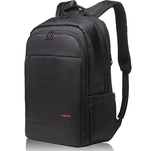 Norsens Notebook Laptop Rucksack 17 Zoll Gepolstert Wasserdicht Business Tasche Notebook Computer Damen Herren Schwarz
