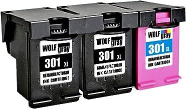 Wolfgray 301XL Remanufacturado para HP 301 XL 301 Cartuchos de tinta (2 negro, 1 tricolor) para HP Deskjet 2544 1010 2540 1510 2510 2050 1050 3055A 3050A 3000, Envy 4500 5530 5532, Officejet 4630 4634