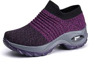 Women's Comfortable Mesh Platform Height Increasing Sneakers Casual Tennis Walking Air Fitness Shoes US 5.5-10