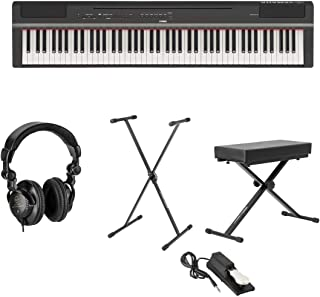 Yamaha P-125 88-Note Digital Piano with Weighted GHS Action,