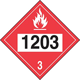 Accuform Signs MPL733VS1 Adhesive Vinyl 4-Digit DOT Placard, Hazard Class 3, Legend