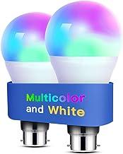 Alexa Light Bulbs WiFi Smart Bulbs B22 Bayonet [2 Pack] Compatible with Echo Alexa Google Home Dimmable Warm Light and Mul...