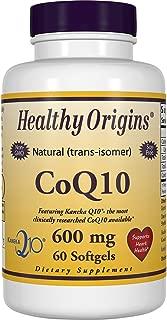 Healthy Origins CoQ10 (Kaneka Q10) 600 mg, 60 Softgels