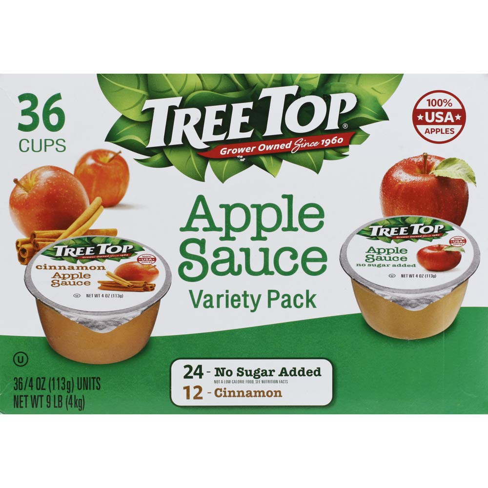 Tree Top Apple Sauce Cups Variety Pack, 4 oz., 36 Cups