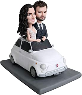 Figuras de la torta de boda del coche personalizadas estatua hecha a mano escultura de matrimonio sala creativa artesanías...