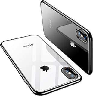 TORRAS Crystal Clear iPhone Xs Max Case, Soft Silicone TPU Thin Cover Slim Gel Phone Case for iPhone Xs Max 6.5 inch (2018) - Black