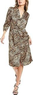 فستان حريمي من Rebecca Taylor بأكمام طويلة مطبوع عليه حيوانات