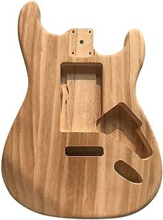 Muslady Electric Maple Guitar Barrel Body Polished Wood Type Unfinished Electric Guitar Barrel