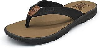 Womens Flip Flops Foam Arch Support Leather Thong Flat Sandals Summer Beach Slip on Shoes