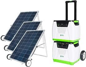 Nature's Generator 1800W Solar Powered Generator, 3 Solar Panel+ 1 Generator+1 Power Pod