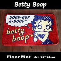アメリカンフロアマット『Betty Boop/ベティーブープ』  ベティちゃんドット柄(BT-DOT) 65×43cm