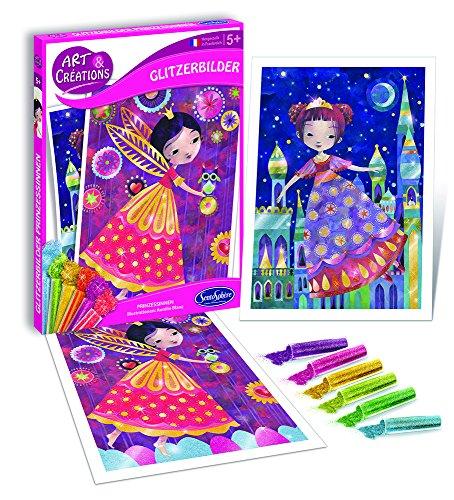 Sentosphere Juego de manualidades con purpurina, diseño de princesas, color (20730) , color/modelo surtido