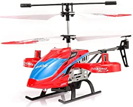 Gxscy JX02 Mini RC Helicopter 2.4G 4 Channel Metal Alloy Altitude Hold Hovering Aircraft for Kids Boys Girls Gift RC Drone Toys (Color : Red)