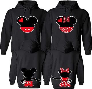 mickey and minnie couple hoodies
