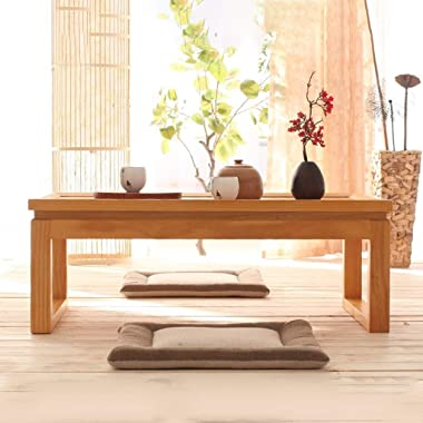 Coffee Tables Solid Wood Living Room Low Table Balcony Tea Table Home Wood Table Laptop Table (Color : B, Size : 60X40X25CM)