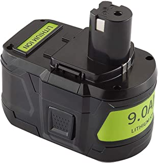 Jialitt 18V 9.0Ah Replacement Battery for Ryobi 18-Volt Cordless Power Tools Lithium-Ion Battery P102 P103 P105 P107 P108 P109