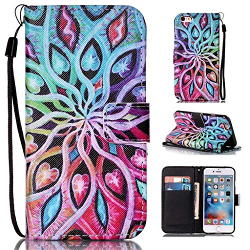 KKEIKO iPhone 6 Case, iPhone 6s Leather Wallet Case [with Free Tempered...