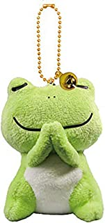 Ruzucoda Stuffed Frog Keychain Plush Animals Pendants Ornaments Pray Good Things Green