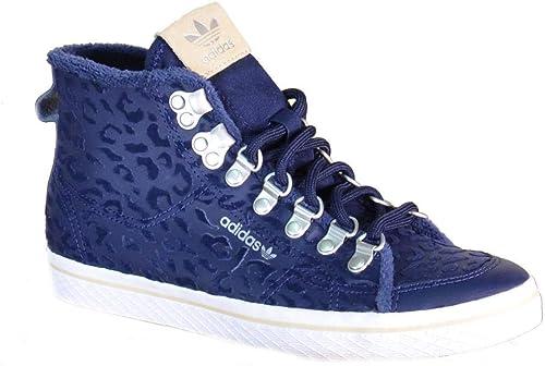 Adidas Chaussures de Sport Hautes Femmes Femmes Honey Hook W Cuir Bleu S77425  grandes marques vendent pas cher