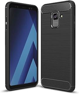 JAWSEU Coque Galaxy A5 2017,2 en 1 Full Body Armure Protecteur int/égrale Coque Anti Rayure Anti Choc PC Hard Etui Support Fente pour Carte Compatible avec Samsung Galaxy A5 2017,Bleu