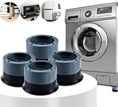 Anti Vibration Pads, 4pcs Washing Machine Base Foot Pads, Non Slip Heighten Shock and Noise Cancelling Mat for Washer and ...