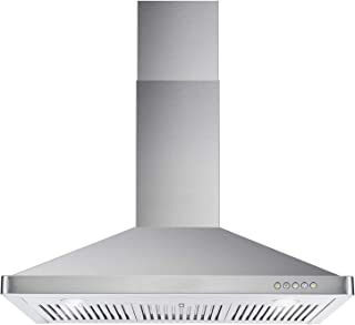 Cosmo 63190 36-in Wall-Mount Range Hood 760-CFM | Ducted / Ductless Convertible Duct , Kitchen Chimney-Style Over Stove Vent LED Light , 3 Speed Exhaust Fan , Permanent Filter ( Stainless Steel )