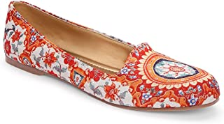 KANVAS Women Ethnic Floral Mughal Loafers Shoes