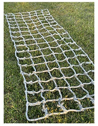Cargo Netting Climbing,Cargo Net Climbing Rope Netting Playground Kids Outdoor Climb Swing Mesh Safety Heavy Duty Netting Fence Child Rock Climbing Ladder Wall,for Kids Alduts Swingset,16mm,Gray