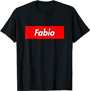 Fabio Name Red Box Logo Funny T-Shirt