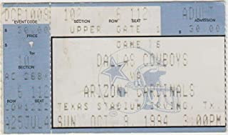 1994 Dallas Cowboys v Arizona Cardinals Ticket 10/9 Texas Stadium 53089