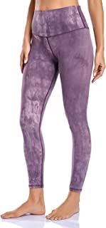 Peer Women's Premium Brushed Buttery Soft High Waist Workout Tie Dye Leggings with pocket Non See-Through Naked Feel Yoga ...