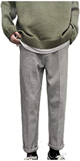 Howely Mens Thickened Woolen Relaxed Fit Fall Winter Palazzo Lounge Pant