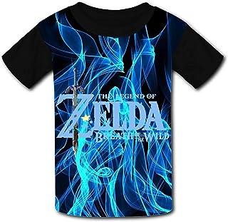 guoweiweiB Camisetas de Manga Corta para niño, The Le-gend of Zel-da Wild Flower Unisex Kids T-Shirts 3D Printed Fashion Y...