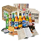 Collection de 9 bières du monde'Bières du monde entier' l Coffret cadeau pour les papas masculins l Tour du monde des bières en coffret cadeau l Cadeau pour la fête des pères et Noël